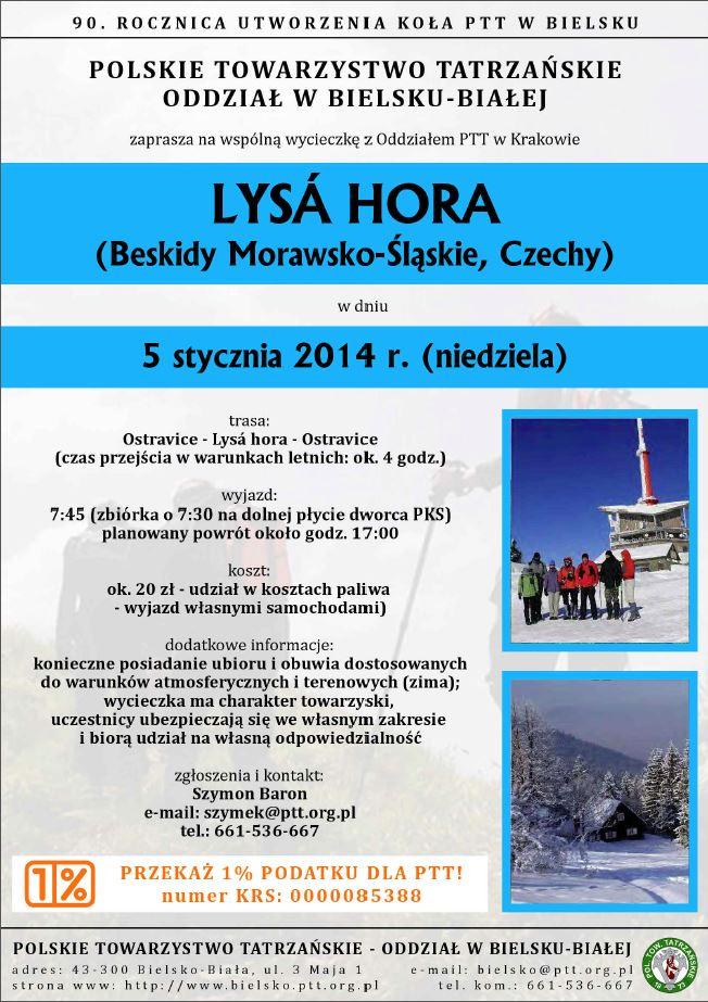 Lysa Hora 20140105 - Plakat