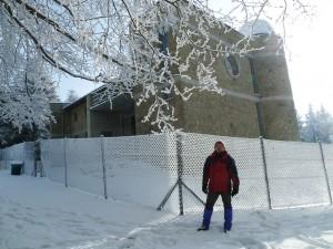 Michał pod Obserwatorium na Lubomirze.