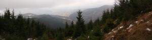 Panorama Ostrawic ze stoków Łysej Hory