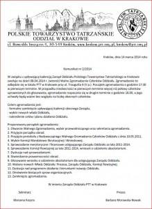 walne zgromadzenie PTT KR 2014