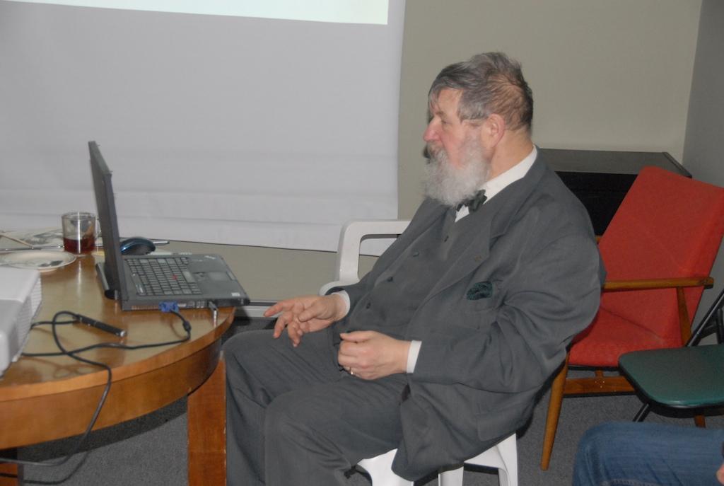 Podczas prelekcji prof. Antoniego Dawidowicza