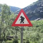 Jedyny taki na świecie znak drogowy: Uwaga - Trolle! (fot. Wikipedia)