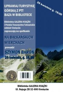 Plakat Oświęcim Bałkany 29.04.2014