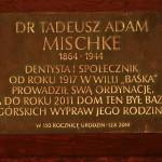 Tablica na domu rodziny Mischke w Zakopanem