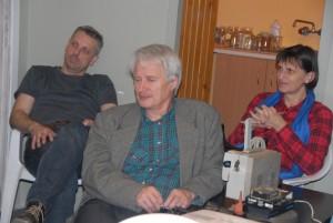 Kol. Robert i kol. Leszek przed prelekcją.