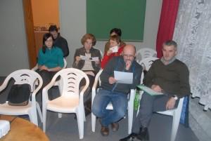 Z prawej przybyły na spotkanie Prezes PTT Józef Haduch.