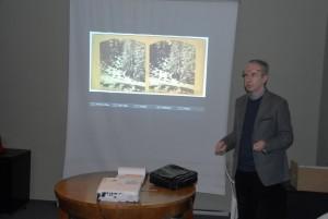 Jarosław Majcher wyświetla pierwsze zdjęcie stereoskopowe