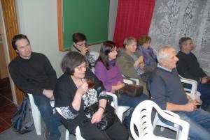Publiczność w momencie zagajenia Michała.