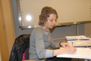 Ania jako Sekretarz Zebrania, wkrótce - Sekretarz Koła Oświęcim.