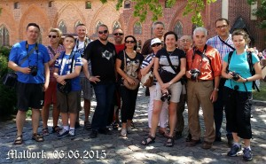 Ekipa PTMA w Malborku. Obejrzeliśmy także Frombork...