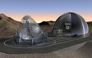 Wizja teleskopów wielkości boiska piłkarskiego - ELT i OWL.