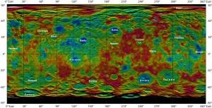 Mapa i skład chemiczny powierzchni asteroidy Ceres.