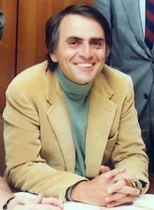 Carl Sagan, zmarły w 1996r. popularyzator i naukowec-astronom.