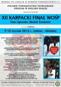 Plakat WOŚP dla PTT O/bielsko-Biała. Możemy się przyłączyć.
