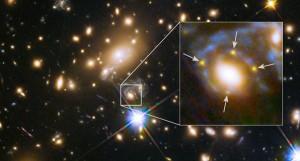 Poczwórny obraz odległej supernowej zogniskowany na galaktyce MACS J1149.6+2223.