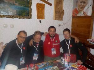 Ekipa XII Karpackiego Finału WOŚP - od lewej: Marcin, Mirek, Szymon i Piotr.