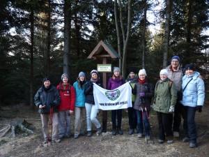 Nasza grupka na szczycie Śnieżnicy w Nowy Rok.