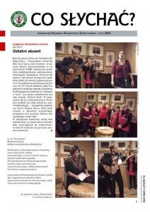 """Pierwsza strona 302. numeru """"Co Słychać"""" (2/2016)."""