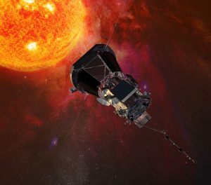 Wizualizacja artystyczna Parker Solar Probe, do wystrzelenia w 2018 roku.
