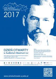 Plakat na Dzień Otwarty Auditorium Maximum UJ - w związku z Rokiem Mariana Smoluchowskiego.
