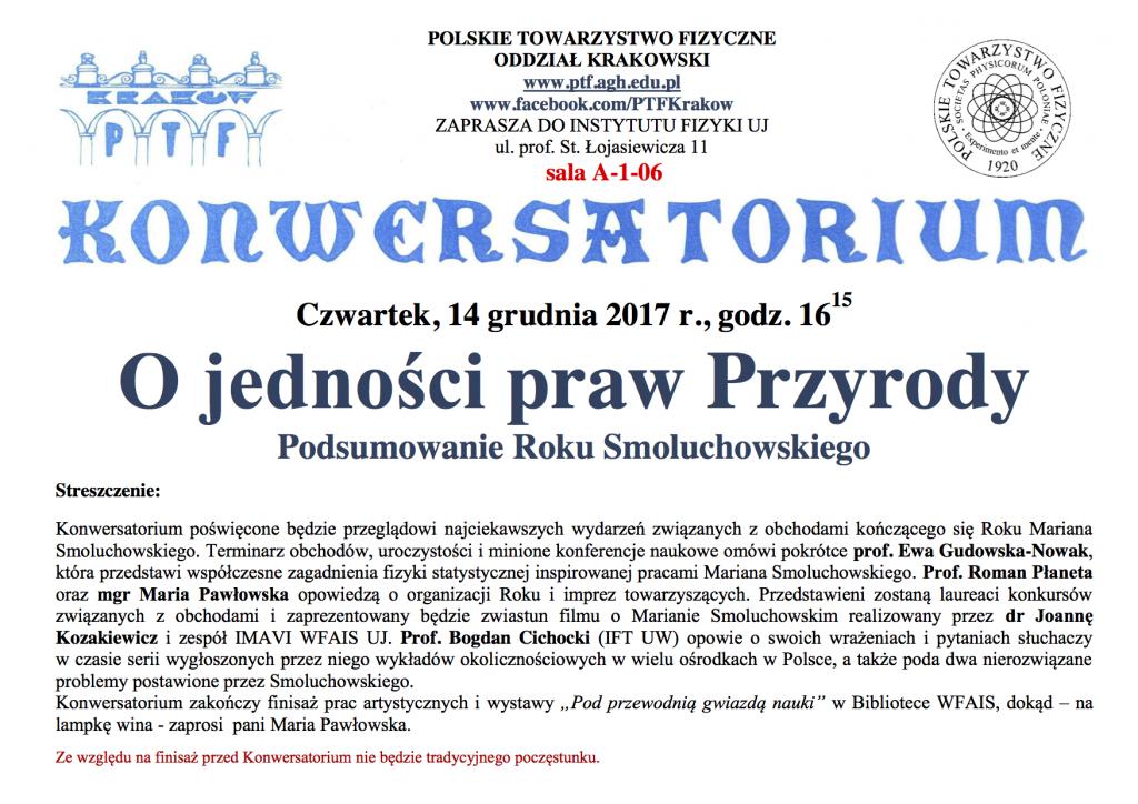Ogłoszenie o Konwersatorium.