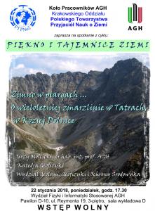 Plakat wystąpienia prof. Mościckiego
