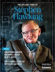 Okładka książki o niedawno zmarłym Profesorze S. Hawkingu.