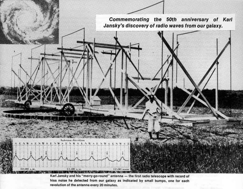 Big Ear Radio Observatory. Źródło - strona o Karlu Jansky'm.